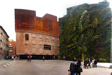 A 24-metre high vertical garden, designed in collaboration with the botanist Patrick Blanc adorns a wall of the CaixaForum in Madrid. Photo / Laie CaixaForum Madrid