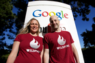 Kiwi Victoria Ransom (left) and Alain Chuard founded Wildfire, which has been sold to Google for a reported US$250 million ($307 million). Photo / Google
