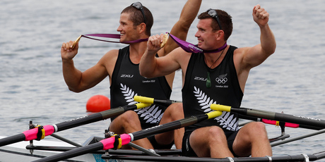 Nathan Cohen (left) and Joseph Sullivan's gold was the lift the New Zealand squad needed.Picture / Mark Mitchell