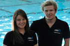 Rebecca Dubber and Cameron Leslie will represent New Zealand in swimming at the London 2012 Paralympic Games. Photo / Supplied