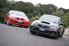 The SS-V and WRX are both performance machines that have cult appeal and rabid fan bases. Photo / David Linklater