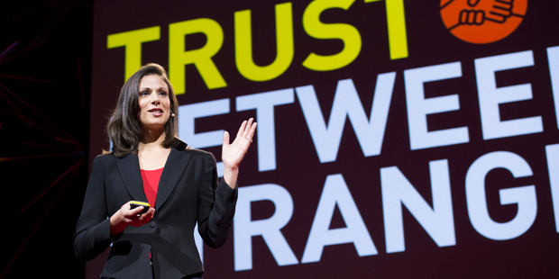 Rachel Botsman, sharing innovator, speaks at TEDGlobal 2012 in Edinburgh, Scotland last month. Auckland will host a local TED event in October. Photo/ Supplied