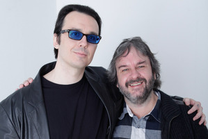 Damien Wayne Echols and Peter Jackson. Photo / file