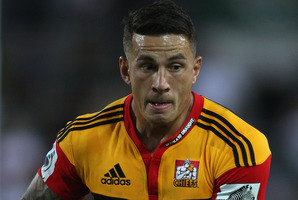 Paul Jordaan will attempt to stop the Sonny Bill Williams express train in tonight's Super Rugby final. Photo / AP.