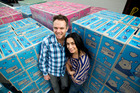 Kevin and Pia D'Ambros-Smith are aiming for growth of 15 per cent a year. Photo / Dean Purcell