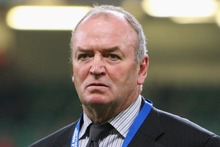 Graham Henry at the Rugby World Cup quarter-final in Cardiff. His criticisms of the refereeing have raised eyebrows.  Photo / Getty Images