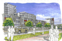 A developer wants to build high-rise apartments at the Milford Shopping Centre. Photo / Supplied