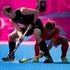 New Zealand defender Blair Hopping in action against Korea's midfielder Dae Keun Oh. Photo / Brett Phibbs.