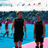 New Zealand players defender Andrew Hayward and forward Nicholas Wilson walk of the pitch after the loss to Korea. Photo / Brett Phibbs.