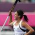 New Zealand Black Sticks Kayla Sharland celebrates her goal against South Africa. Photo / AP.
