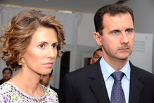 Asma Assad with her husband Syrian President Bashar Assad. Photo / AP