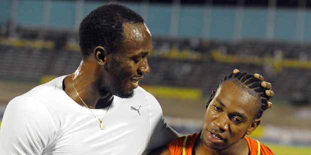 Bolt is the superstar, the man who four years ago changed sprinting forever; Yohan Blake is the young pretender, the reigning world champion. Photo / AP.