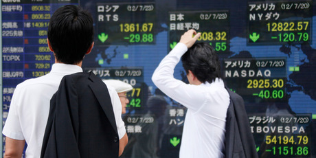 Asian stock markets also slid on Monday as investors fretted about Europe's debt crisis. Photo / AP