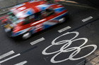 Lanes marked for Olympic vehicles have irked London's cabbies and private motorists. Photo / AP