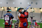 Malaysian shooting athlete Nur Suryani Mohamed Taibi, competing in the 10m rifle event while 8 months pregnant. Photo / AP