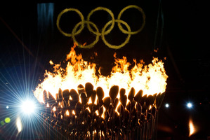 A few hundred protesters have spoken out against the 2012 Olympics in London. Photo / AP