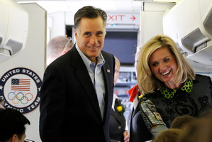 Republican presidential candidate and former Massachusetts Gov. Mitt Romney and his wife Ann. Photo / AP