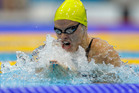 Australia's Leisel Jones competes in a women's 100-meter breaststroke swimming semifinal. Photo / AP