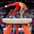 Chinese gymnast Chen Yibing performs on the pommel horse during the Artistic Gymnastic men's team final. Photo / AP.
