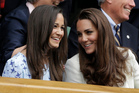 Pippa and Kate Middleton. 'These are proper trophy womenwho understand the deal.' Photo / AP