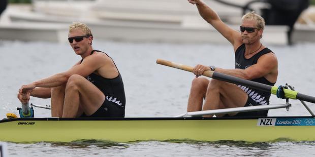 Will Hamish Bond and Eric Murray win New Zealand's second gold tonight? Photo / Brett Phibbs