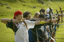 Archery where the aim is to always have your eyes on the target. Photo / Greg Bowker