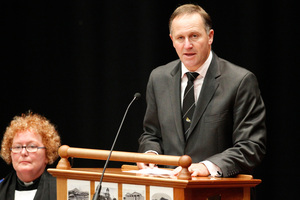 John Key says the Government will seek advice before responding to the Waitangi Tribunal's recommendation to delay the asset sales. Photo / Mark Mitchell