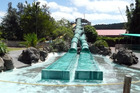 Waiwera Thermal Resort's hydroslides. Photo / APN