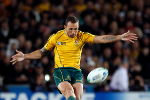 Australia's Quade Cooper was the target of Kiwi crowd hostility at last year's Rugby World Cup. Photo / Dean Purcell