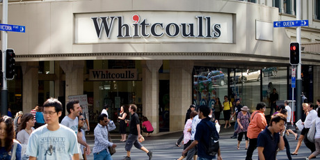 Whitcoulls plans to have most of the renovations at its Queen St shop completed in time for the shopping build-up to Christmas. Photo / Dean Purcell