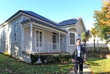 Eden Park Trust CEO David Kennedy outside 16 Cricket Ave, one of three homes now surplus to the trust's requirements. Photo / Getty 