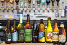 A selection of craft beers made using Kiwi hops on display at the Brew on Quay Bar, in 2010. Photo / Paul Estcourt