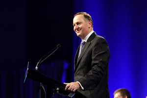 John Key announced the education funding initiative this morning. Photo / Michael Craig