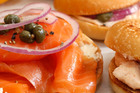 A salmon bagel each morning can benefit the brain's ability to remember. Photo / Janna Dixon
