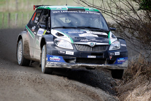 Hayden Paddon will drive a different Skoda Fabia S2000 in the Finland Rally from the one he drove to win the SWRC class at Rally NZ.  Photo / APN
