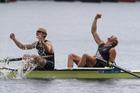 Eric Murray and Hamish Bond are the ultimate champions.  Photo / Brett Phibbs