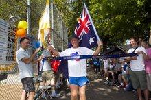 Grahak Cunningham finishes an almost 5000km race. Photo / Supplied