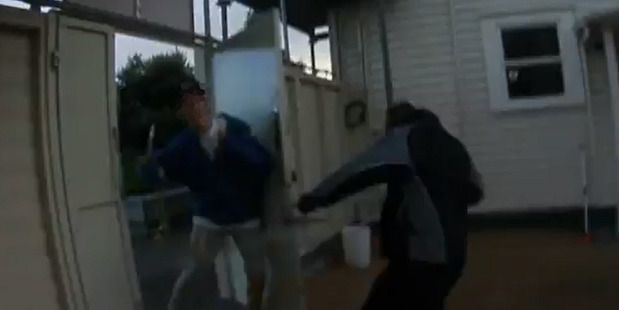 Loading An Eden Park security guard (right) attacks a skateboarder. Photo / Youtube.com