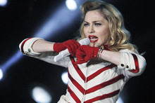 Madonna blames thugs for adding a sour note to a recent show in Paris. Photo / AP