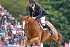 Andrew Nicholson finished in fourth place in the individual show jumping event at the London Olympics. Source / Mark Mitchell NZ Herald