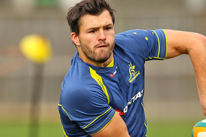 Australia's Adam Ashley-Cooper has put his hand up to contain All Blacks star Sonny Bill Williams if the need arises. Source / Getty Images
