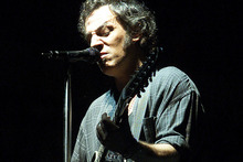 Bruce Springsteen, pictured performing at Western Springs in 2003, is reportedly being lined up for a New Zealand show in early 2013.  Photo / Alan Gibson