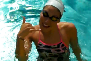 A member of the US Olympic swim team dancing to 'Call Me Maybe'. Photo / YouTube