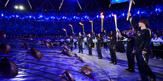 A leading British bookmaker is refunding all wagers on who would light the Olympic cauldron, saying it was too tough to guess the seven young athletes who eventually lit the flame. Photo / AP