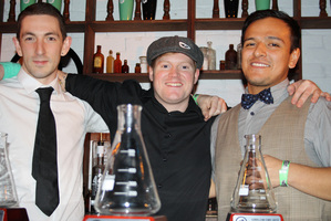 The team to represent NZ at the Cocktail World Cup. (L-R) Guy Jacobson, Barney Toy and Giancarlo Jesus. Photo / Supplied