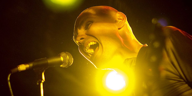 Billy Corgan at Vector Arena in 2008. Photo / Richard Robinson
