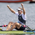 New Zealand rower Mahe Drysdale celebrates gold in the final of the men's single sculls. Source / Mark Mitchell NZ Herald