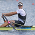 New Zealand rower Mahe Drysdale on the way to gold in the final of the men's single sculls. Source / Brett Phibbs NZ Herald
