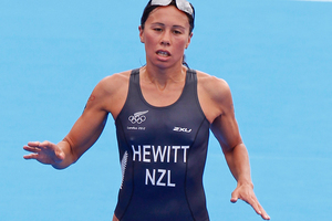 Andrea Hewitt was the best-placed Kiwi finisher in the Olympic women's triathlon in sixth place. Source / Mark Mitchell NZ Herald