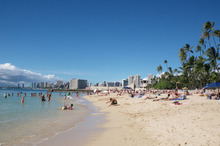 If you're tired of Waikiki's crowds, Kaimana Beach is a great alternative. Photo / Supplied